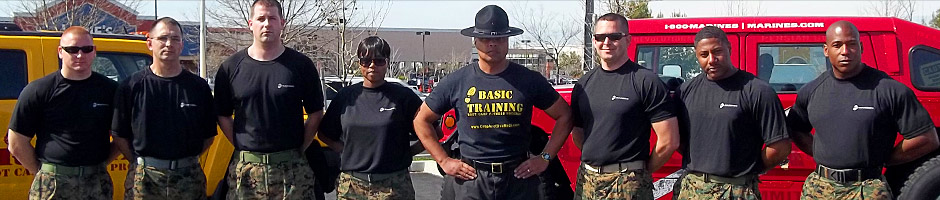SDI Carson with Boot Camp Drill Instructors
